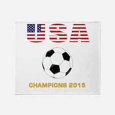 USA Soccer Womens Champions 2015 Throw Blanket