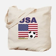 USA Soccer Womens Champions 2015 Tote Bag