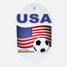 USA Soccer Womens Champions 2015 Ornament (Oval)