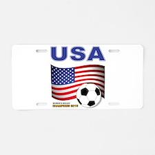 USA Soccer Womens Champions 2015 Aluminum License