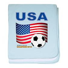 USA Soccer Womens Champions 2015 baby blanket