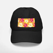 Yellow-magenta-white Hawaiian Hibiscus Baseball Ha