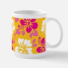 Yellow-magenta-white Hawaiian Hibiscus Mugs