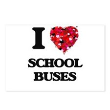 I Love School Buses Postcards (Package of 8)