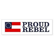Proud Rebel Bumper Car Sticker
