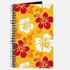 Yellow-red-orange-white Hawaiian Hibiscus Journal