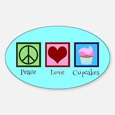 Pretty Cupcake Sticker (Oval)