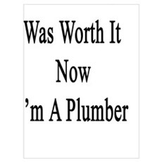 All That Effort Was Worth It Now I'm A Plumber Poster