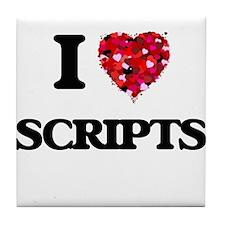 I Love Scripts Tile Coaster