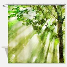 Afternoon Forest Shower Curtain