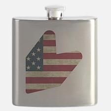 JDM LOGO AMERICAN FLAG Flask