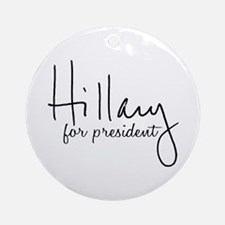 Hillary Signature President Ornament (Round)