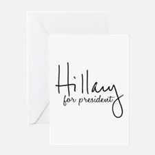 Hillary Signature President Greeting Card