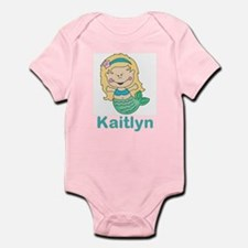 kaitlyn's mermaid personalized Infant Bodysuit