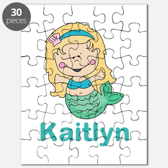 kaitlyn's mermaid personalized Puzzle