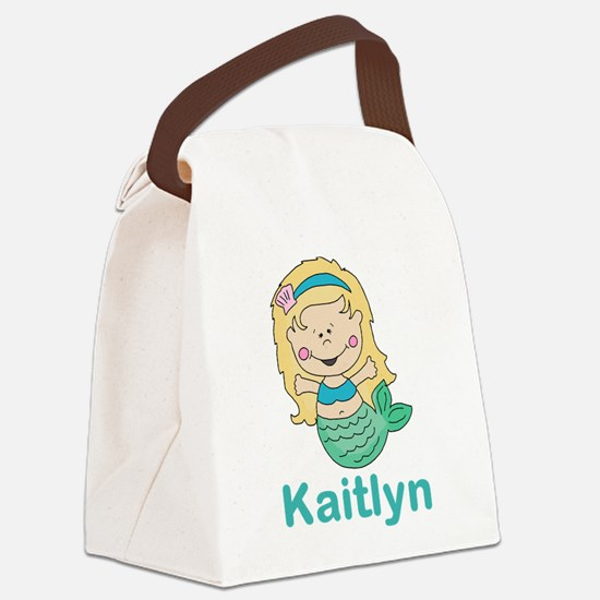 kaitlyn's mermaid personalized Canvas Lunch Bag
