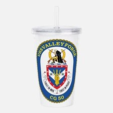 Uss Valley Forge Cg 50 Acrylic Double-Wall Tumbler