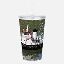 Model tugboat reflecti Acrylic Double-wall Tumbler