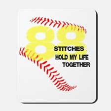 88 stitches Mousepad