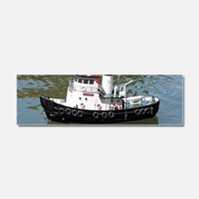 Model tugboat reflections in wat Car Magnet 10 x 3