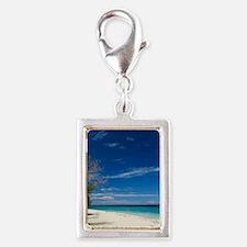 South Sea Island, Fiji Silver Portrait Charm