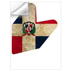 JDM DOMINICAN FLAG  Wall Decal
