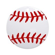 Baseball Laces Square Ornament (Round)