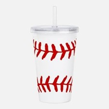 Baseball Laces Square Acrylic Double-wall Tumbler