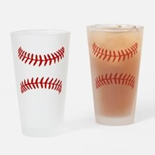 Baseball Laces Square Drinking Glass