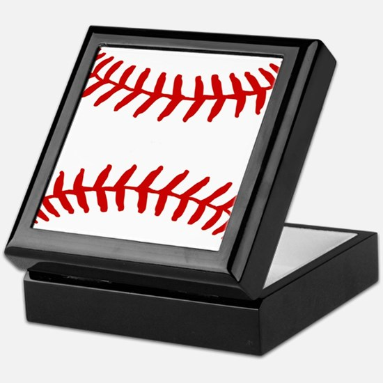 Baseball Laces Square Keepsake Box