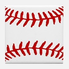 Baseball Laces Square Tile Coaster