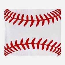 Baseball Laces Square Throw Blanket
