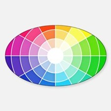 color wheel Sticker (Oval)