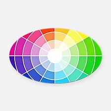 color wheel Oval Car Magnet