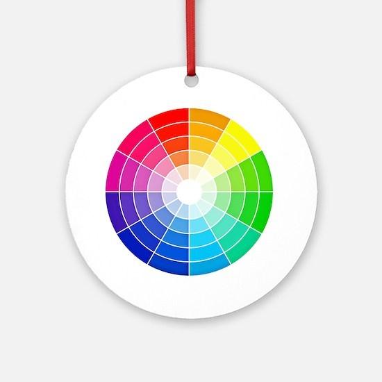 color wheel Round Ornament
