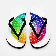 color wheel Flip Flops