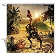 Tyrannosaurus skeleton Shower Curtain