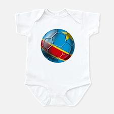 DR Congo Soccer Ball Infant Bodysuit