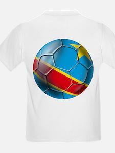 DR Congo Soccer Ball T-Shirt