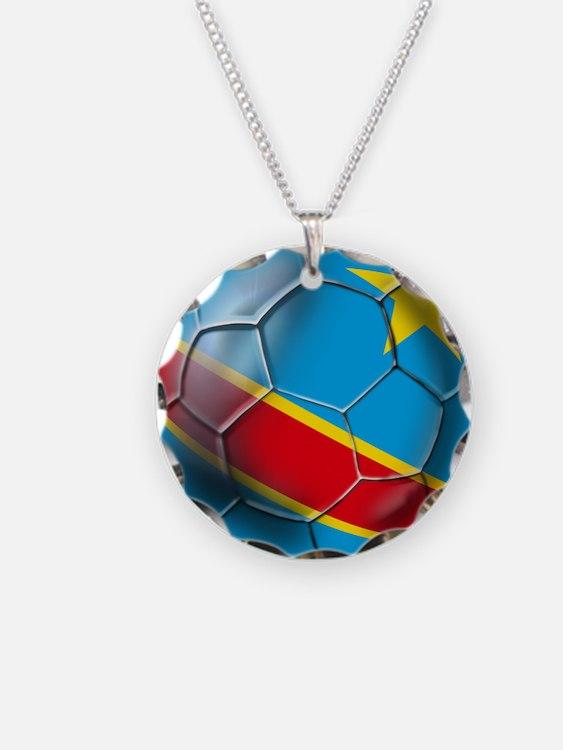 DR Congo Soccer Ball Necklace