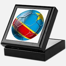 DR Congo Soccer Ball Keepsake Box