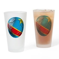 DR Congo Soccer Ball Drinking Glass