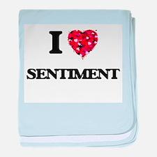 I Love Sentiment baby blanket