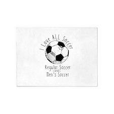 Soccer Love (Fem Power) 5'x7'Area Rug