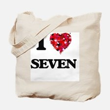 I Love Seven Tote Bag