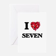 I Love Seven Greeting Cards