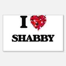 I Love Shabby Decal