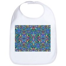Colorful Abstract Psychedelic Swirls Bib