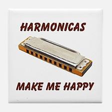 HARMONICAS Tile Coaster