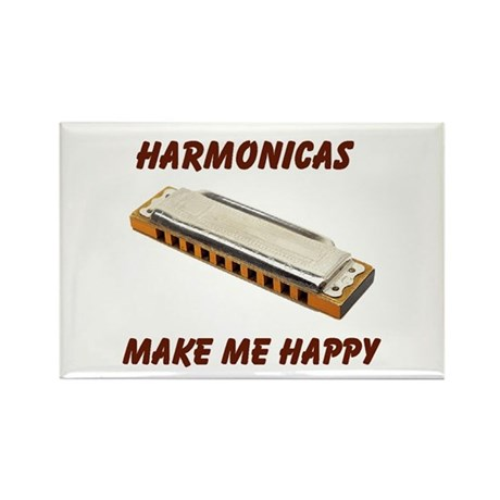 HARMONICAS Rectangle Magnet (10 pack)